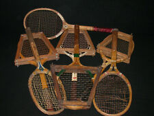 Lot 7 Antique Vtg Tennis Racquets Wright & Ditson Spalding F.J.Bancroft Champion