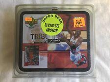 Michael Jordan Tribute Sealed Lunch Box & 1998-99 UD NBA 30 card Set - MINT RARE