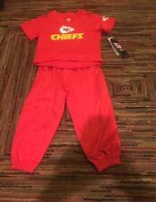 NWT NFL KANSAS CITY CHIEFS BABY BOY RED 2 PIECE JERSEY PANTS SWEATPANTS SET