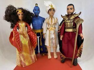 Disney / Hasbro - Aladdin - Lot of 4 Toy Dolls - Aladdin, Genie, Dalla & Jafar