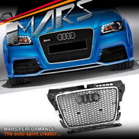 Chrome Black Honeycomb RS3 Style Front Bumper Grille Grill for AUDI A3 8P 09-12