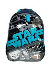 Disney Store Star Wars Backpack School Book Bag Tote Bb-8 R2-D2 Xwing Millenniun