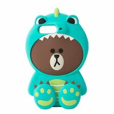 LINE FRIENDS Character Apple iPhone 7 Plus Silicone Case DINO BROWN