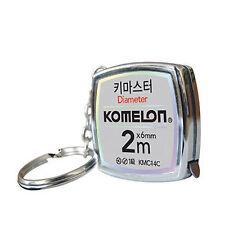 Komelon KeyMaster Mini Tape Measure KMC-14C Steel Pocket Key Chain 2M Measuring