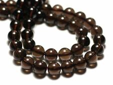 Perles de Pierre - Quartz Fumé Boules 4mm - Sac de 10pc  4558550034328