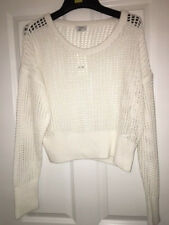 DKNY White Knitted Jumper Top XL NEW RRP £85