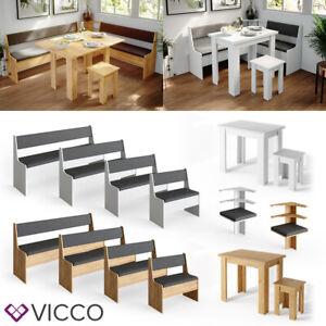 VICCO Eckbankgruppe ROMAN Esszimmergruppe Sitzgruppe Küchensitzgruppe Bank Tisch