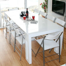 High Gloss White Extendable Dining Table - & Fast Dispatch