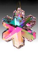Swarovski Snowflake Austrian Crystal 8811-35mm Rose Pink AB Prism w Logo