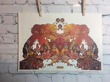 Vtg Peter Max Audio D.N.A. Atman Psychedelic MCM Mod Pop Art Poster 1971 11x16