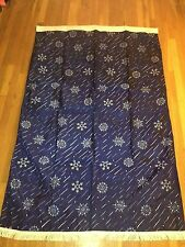 2 Annin Snowflake Flag Banner Holiday Christmas Nylon 4x6 Blue White Made in USA