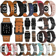 for Apple Watch 38/40mm 42/44mm iWatch SE 6 5 4 3 2 Leather Band Bracelet Strap