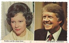 PRESIDENT and MRS. JIMMY CARTER 39th US American United States  Postcard