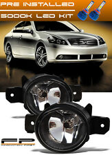For 2008-2010 Infiniti M35 M45 Replacement Fog Light Housing Clear Lens Plus LED