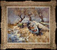 Hand-painted Original Oil painting art knife Impressionism landscape On Canvas