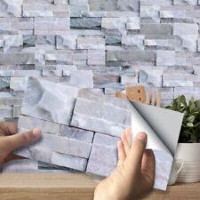 9pcs Mosaic Stone Bricks Self-adhesive Bathoom Kitchen Wall Tile Stair Sticker