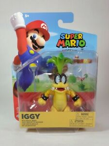 Super Mario Iggy Koopa 4 Inch With Magic Wand Jakks Figure NEW