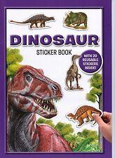 DINOSAUR STICKER BOOK CHILDREN KIDS ACTIVITY BOOK PURPLE