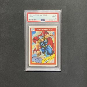 1990 Marvel Universe Series 1 by Impel • Thor • Rookie Card • PSA 9 RARE POP 29