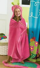 Jumping Beans Pink Butterfly Bath Wrap Hooded Towel Swim Beach Terry 27x54 NWT