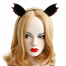 Womens Headband Halloween Felt Animal Ears Devil Wings Bat Stone Hairband Hoop