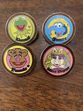 Disney 2006 Muppets Hidden Mickey Cast Lanyard Series 4 Pins Kermit Miss Piggy