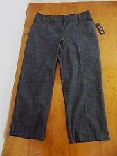 NWT Apt.9 Women's Crop Capri The Maxwell Fit pants Sz 8 Charcoal pattern