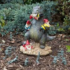 Godzilla Dinosaur Monster Eating Gnome Front Lawn Outdoor Garden Resin Statue
