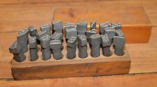 """Rare leather workers 1"""" steel die stamp quality US made letter set collectible"""