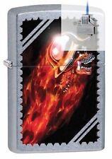 Zippo 29067 skull-flames-helmet Lighter & Z-PLUS INSERT BUNDLE