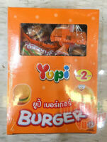 24x8g. Yupi Burger Jelly Gummy Mixed Fruit  Flavour Candy Candies Sweet