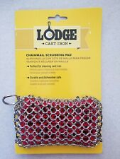 Lodge Stainless Steel Chainmail and Silicon Cast Iron Scrubber