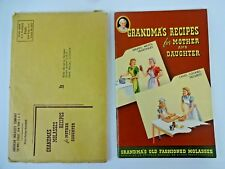 Grandma's Recipes For Mother And Daughter Grandma's Old Fashioned Molasses 1955