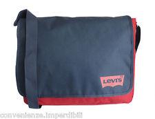 Levi's Messenger in tessuto di colore rosso e blu scuro
