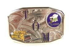 Deco TOM Seabees Bulldozer Belt Buckle By HOOK FAST PAT 1481911 52416