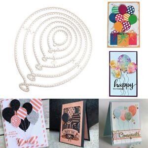 6PCS / lot Balloons Metal Cutting Dies Stencil Scrapbooking Embossing Card Craft