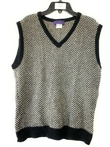 Women's Ralph Lauren Purple Label Knitted Sweater Vest Black Gray White Cashmere