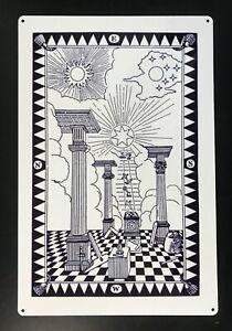 Masonic First Degree Tracing Board - Portable - Printed on Aluminium (300x200mm)