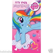 OFFICIAL MY LITTLE PONY BIRTHDAY CARD WITH BADGE**FREE 1ST CLASS P&P**