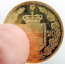 1882 R ITALY TWENTY LIRA GOLD MS63 OLD NGC HOLDER PROOF LIKE GOLD 20L Coin
