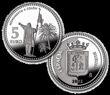 ESPAÑA 5 euros plata 2012 HUELVA Serie Ciudades Españolas