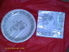 Silver Lace wedding, Napkins & Plates