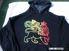 RASTA REGGAE DREAD IRIE BLACK LION OF JUDAH HOODIE XL