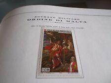 SOVEREIGN MILITARY ORDER OF MALTA 1973 ST JOHN THE PATRON OF ORDER MNH