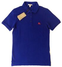 NWT MENS BURBERRY PHILLIPSON OXFORD BRIGHT NAVY BLUE LOGO SHIRT POLO- SMALL
