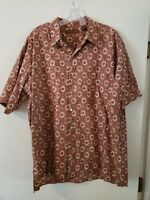 Tori Richard Mens Hawaiian Cotton Lawn Button Short Sleeve Shirt XL