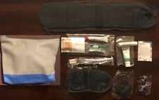 New / Unused Lufthansa Business Class Jil Sander Navy Amenity Kit + Bonus Menu.