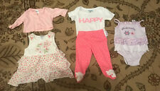 Baby girl clothes 0-3 months lot Of 5 summer/ Spring