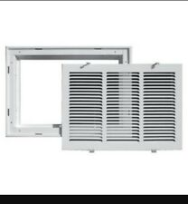 """TRUaire - 190RF - 30"""" x 18"""" White Return Air Filter Grille with Removable Face"""
