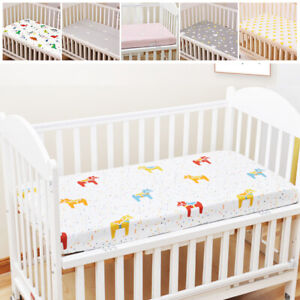 Nursery Baby Bed Cover Cotton Fitted Sheet Crib Cot Bed Matching Bedding Pattern